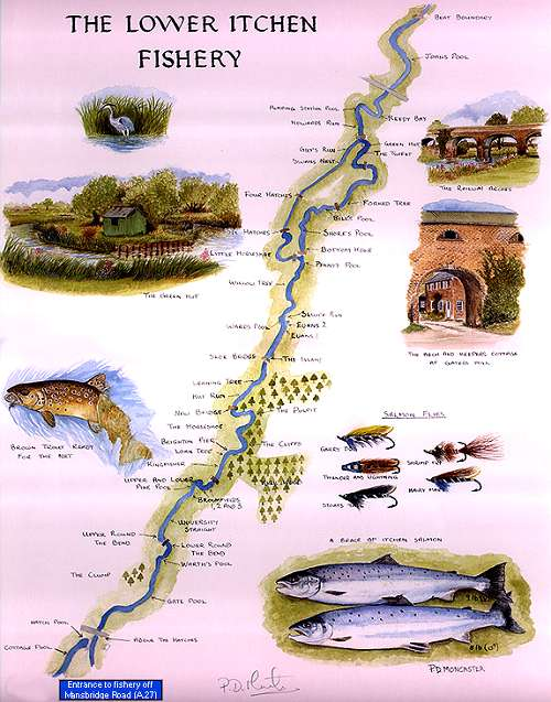 Map of river